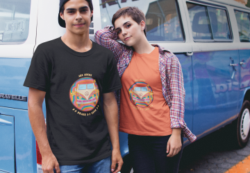 Purr Apparel All About Peace and Love Tee