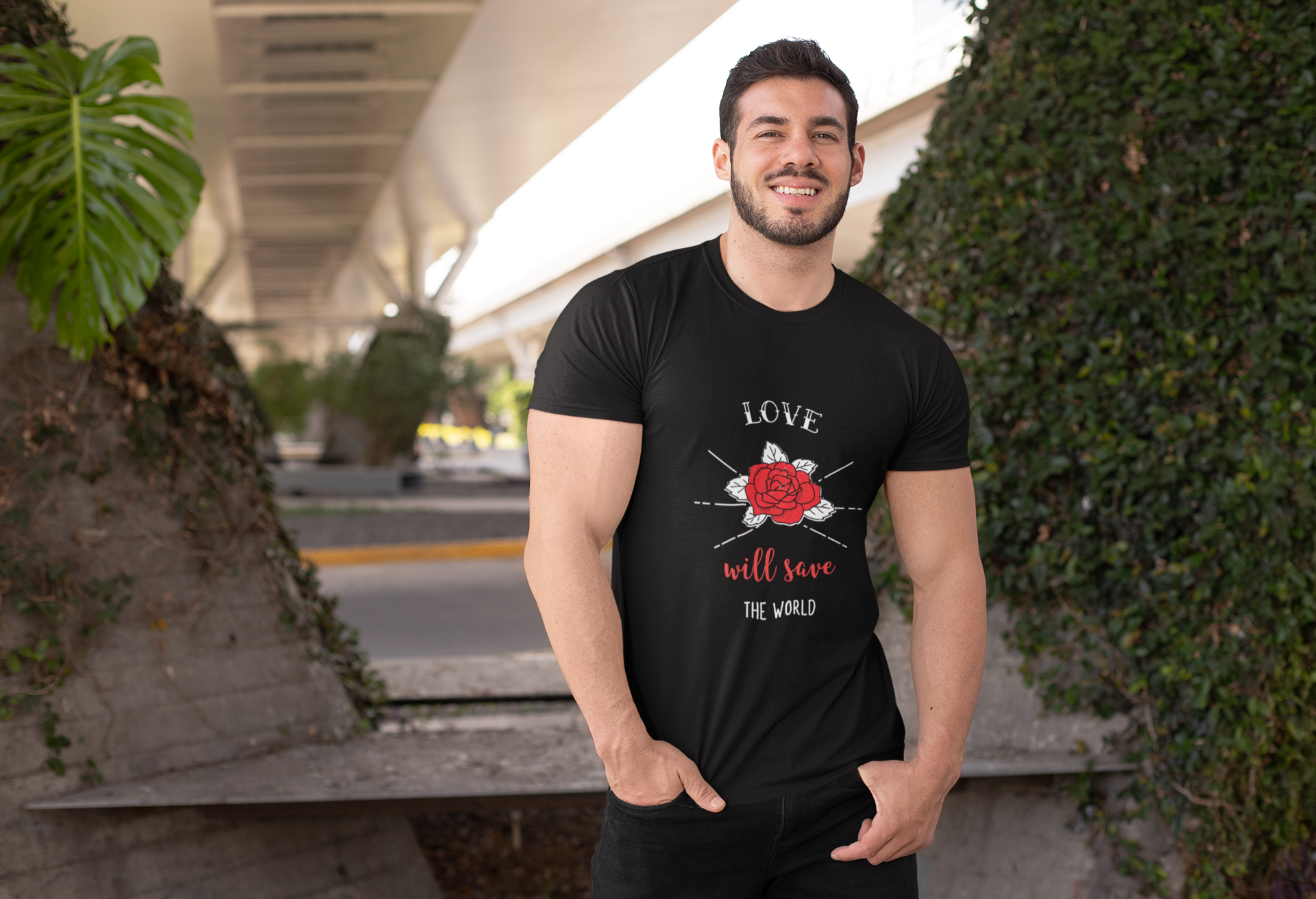 Love Will Save The World Purr Apparel Tshirt
