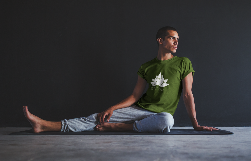 Purr Apparel Let it Go Yoga Zen Olive Tee