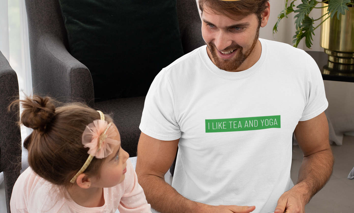 I like tea and yoga tshirt